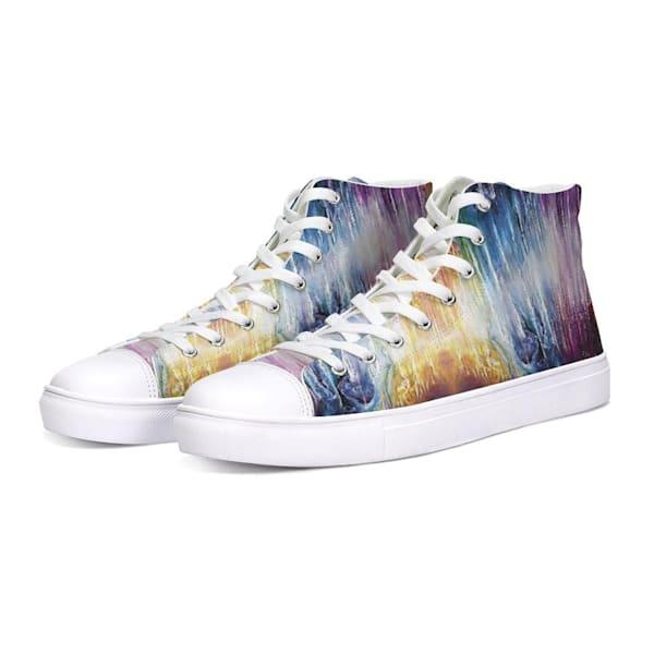 Infinite Spectrum Hightop Canvas Shoe | Boundless Creations