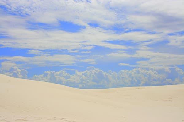 Blue Sky, White Sands National Park Photography Art | Lauramarlandphoto.com