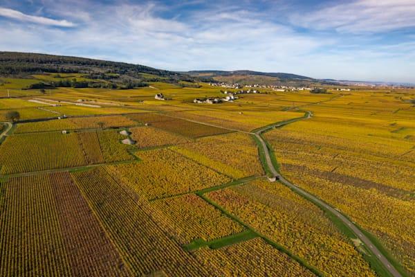 Burgundy France aerial photo