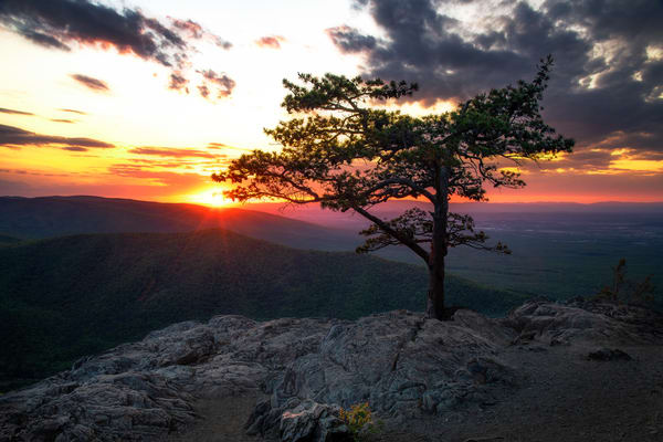 Sunset at Ravens Roost - Blue Ridge Parkway fine-art photography prints
