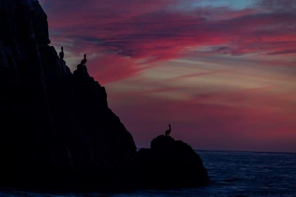 Pelican rock sunset