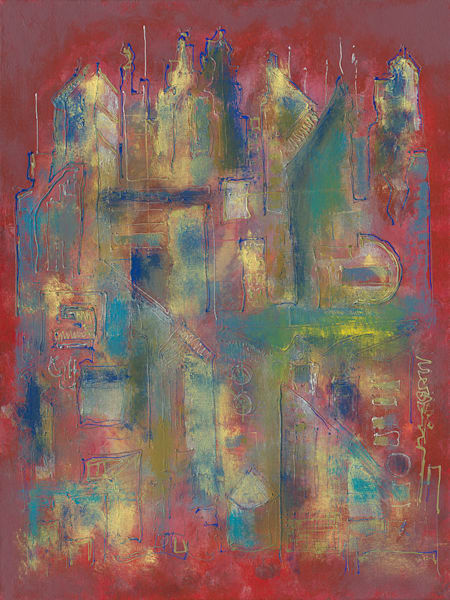 City In Flamed Art   RPAC Gallery