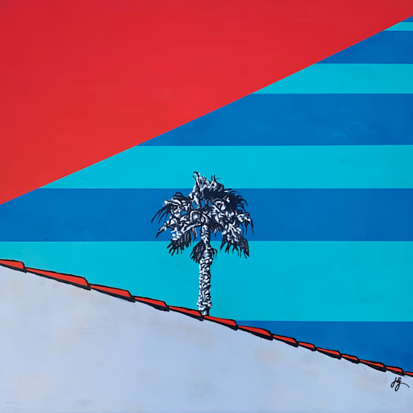 Palm Tree Noir Art | Jon Savage Contemporary Art