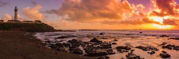 Beach sunset panoramic