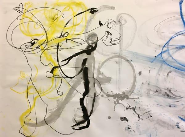 Untitled (Detail In Yellow & Blue, Bauhaus Collaboration), 2019 Art | larahanson