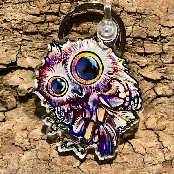 """Oscar"" The Baby Owl Keychain *New* | Snail Candy Art Studio"