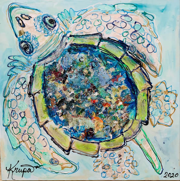 Sea Turtle Palette Boy Art | STACIE KRUPA FINE ART - THE COLLECTION