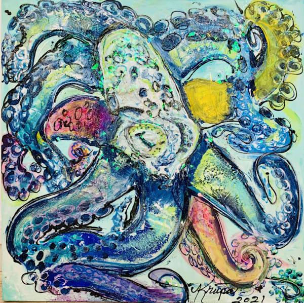 Octopus Seafoam Rockstar Art | STACIE KRUPA FINE ART - THE COLLECTION