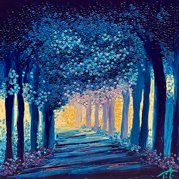 Road Out Of The Blues   Original Oil Painting Art | Tessa Nicole Art