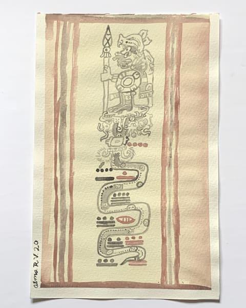 Chaak And The Long Count Serpent Art   Alma Ruiz Velasco