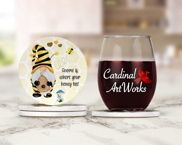 Gnome Is Where Your Heart Bee! Coasters