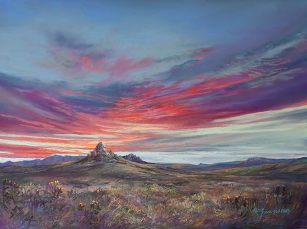 Lindy Cook Severns Art | The Earth The Sky and The Mountain Between, print