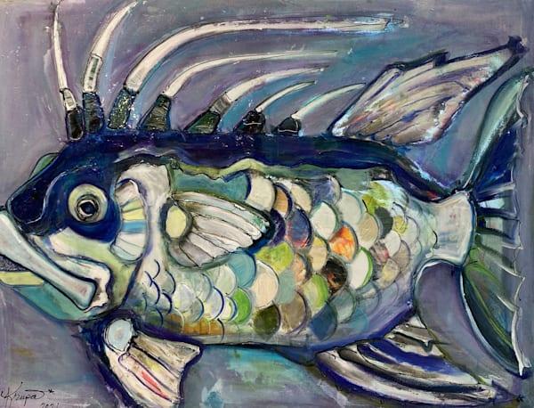 Hogfish Ocean Gentleman Art | STACIE KRUPA FINE ART - THE COLLECTION