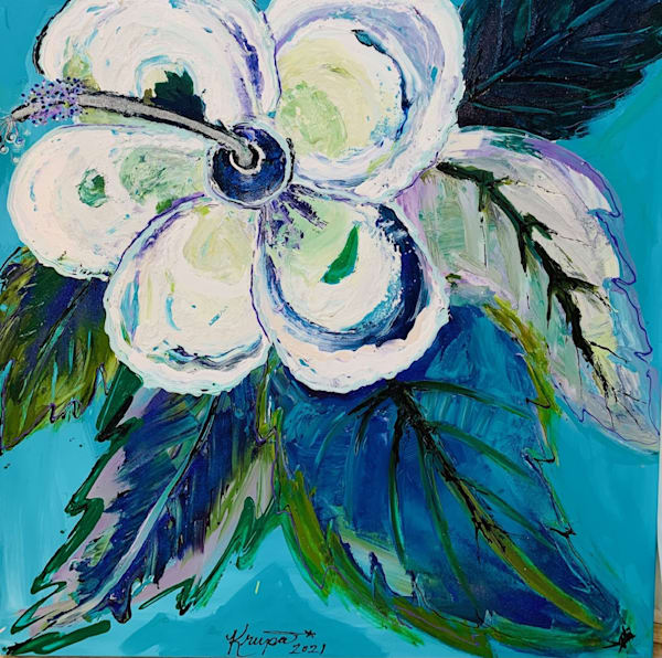 Hibiscus Ocean Naughty Girl Art | STACIE KRUPA FINE ART - THE COLLECTION