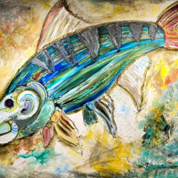 Bonefish Joyful Rockstar  Art | STACIE KRUPA FINE ART - THE COLLECTION