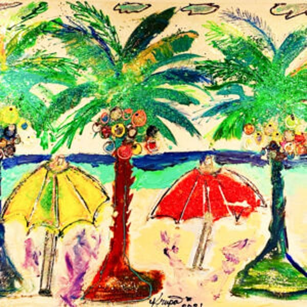 Palm Tree Party Girls Art | STACIE KRUPA FINE ART - THE COLLECTION