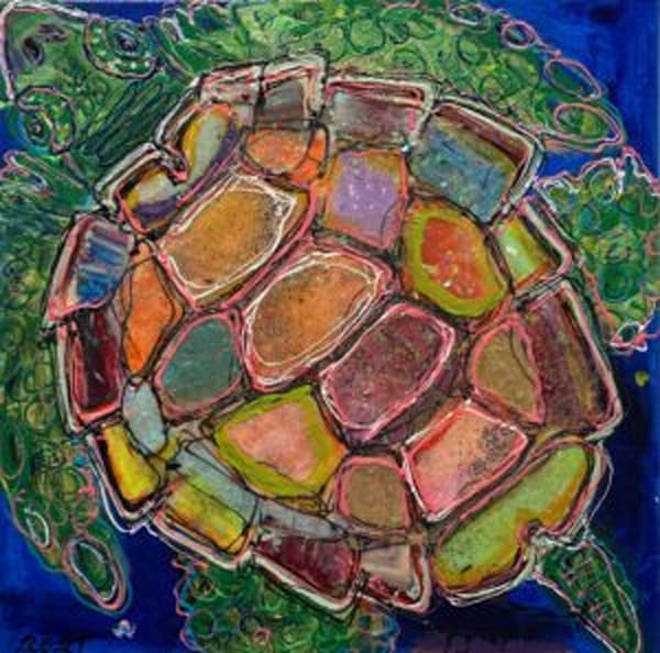 Sea Turtle Sassy Pants Singer Sun Seeker Art | STACIE KRUPA FINE ART - THE COLLECTION