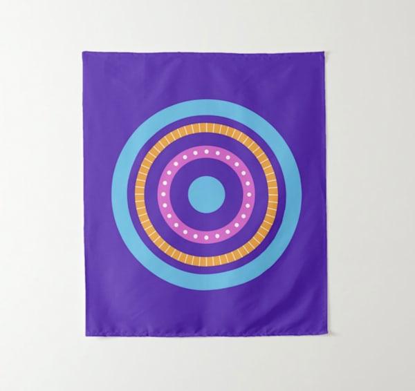 Round Art 3 Tapestry