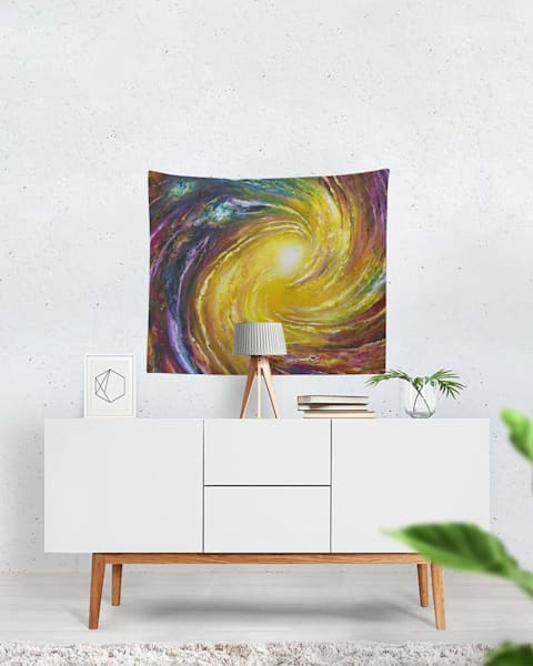 Luminous Currents Tapestry | Boundless Creations