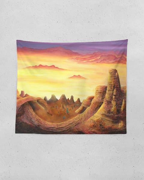 Waking Up From A Dream Tapestry | Boundless Creations