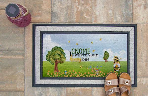 Gnome Is Where Your Honey Bee Doormat