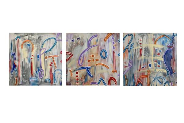 """""""The Freedom Series"""" Original Set Of 3, Each 30"""" X 30"""" Art   Garry Scott Wheeler Artwork LLC"""
