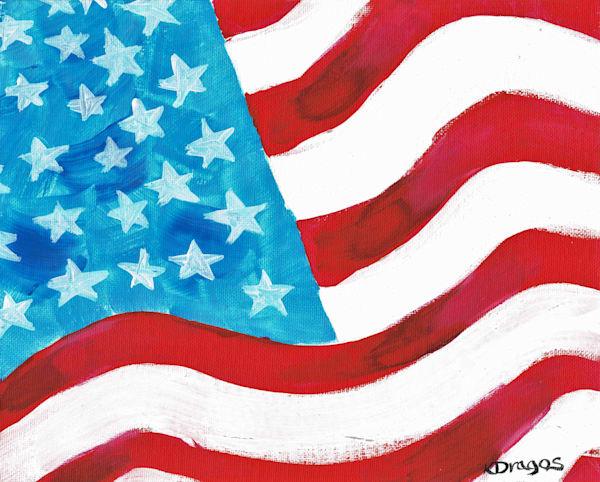 Patriotic Waves Art Print