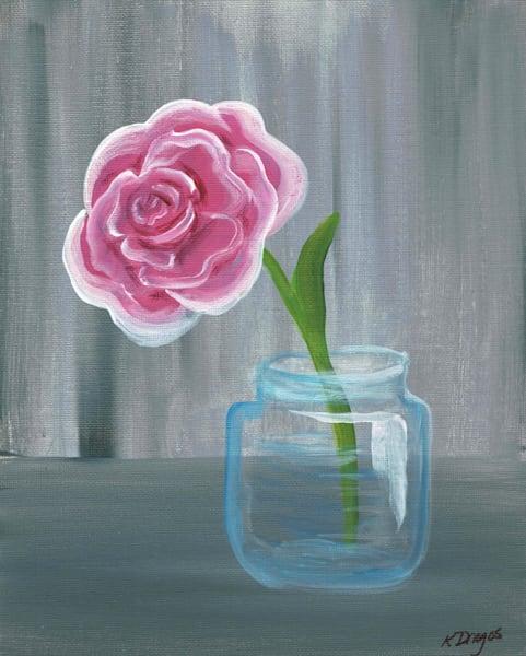 Simple Rose Acrylic Artwork Print