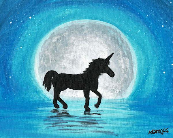 Moonlit Unicorn Art Prints