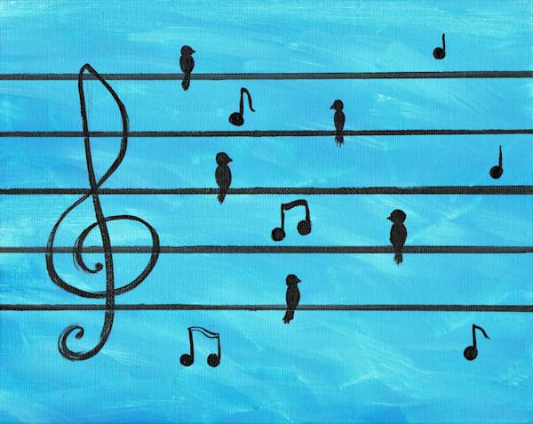 Musical Birds Art Prints