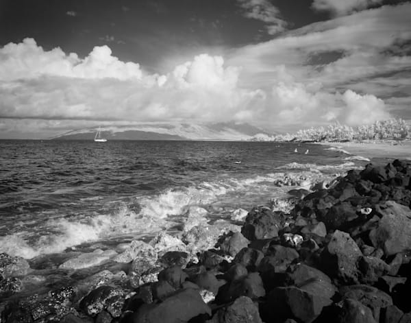 Lava Rocks, Maui Photography Art | The World in Black and White