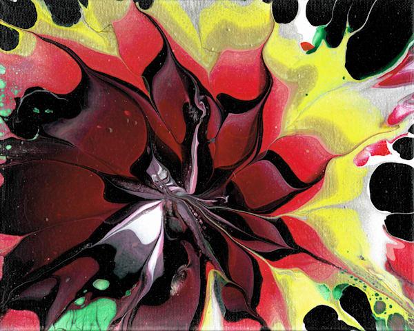 Fantasy Flower - Acrylic Pour Painting Fluid Art Prints