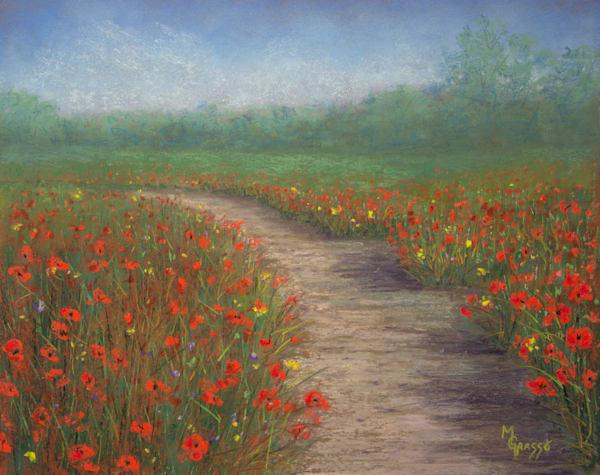 Poppy Love   Original Art   Mark Grasso Fine Art