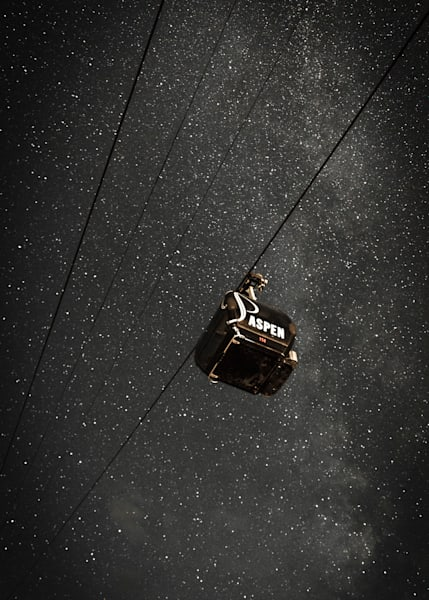 "Aspen Under The Stars 20"" X 30"" Photography Art   Visual Arts & Media Group Corporation"
