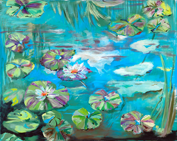 The Lily Pads and The Lotus | Beach Art | JD Shultz Art