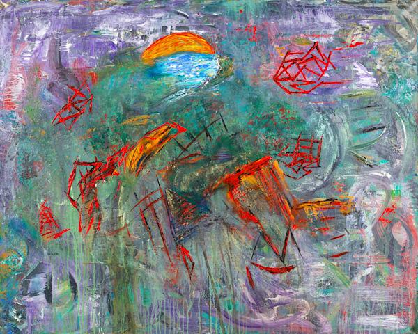 A Hidden Village   Abstract Art   JD Shultz Art