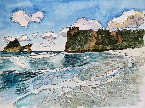 Beachscape Art | Water+Ink Studios