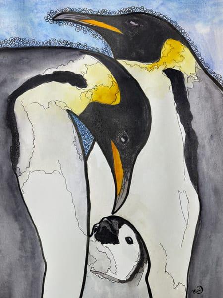 Emperor Penguins Art | Water+Ink Studios
