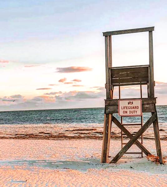No Lifeguard On Duty   Harwich, Ma Photography Art | The Colors of Chatham