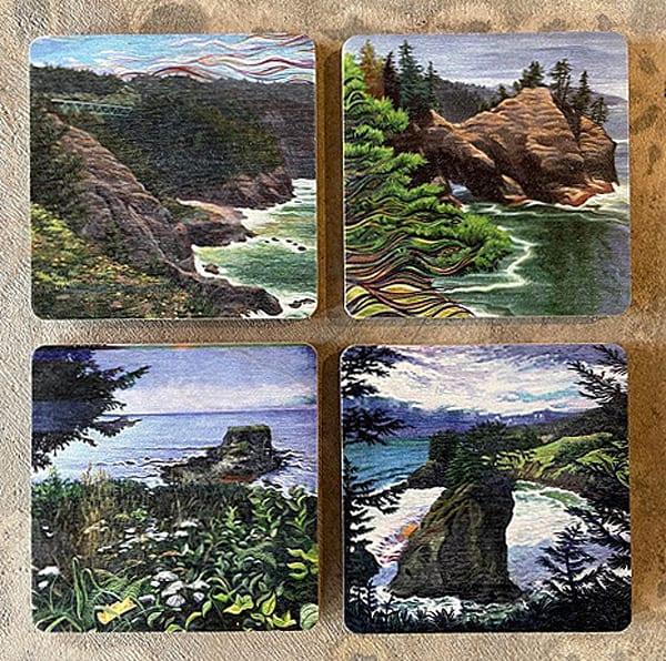 Spencer Reynolds Oregon Coast Scenes Coasters
