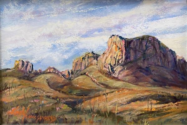 Lindy Cook Severns Art | A Golden Morning in Big Bend, original pastel