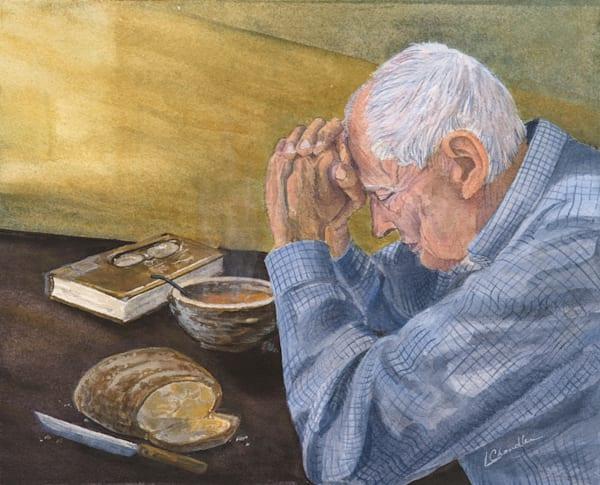 Praying, humble, watercolour, blessed, Jesus.