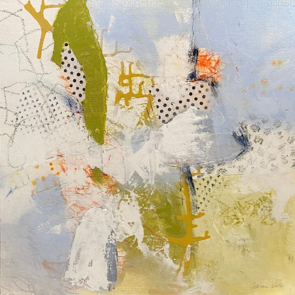 Yesterday's News #12 is a mixed media painting on wood by Adrienne Watts.