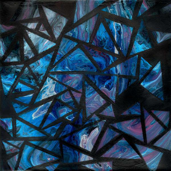 Triangles - Acrylic Pour Artwork Prints