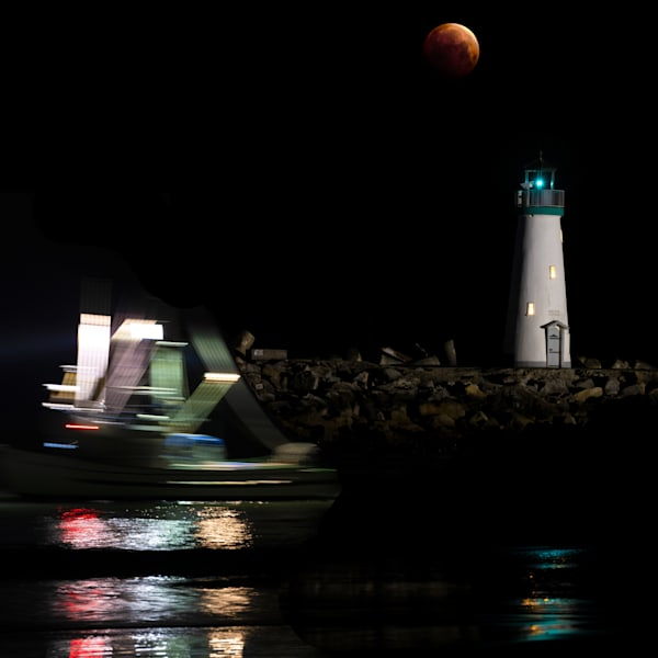Blood Moon Boat Photography Art | FocusPro Services, Inc.