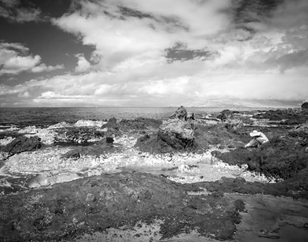 Beach Therapy, Maui Photography Art | The World in Black and White