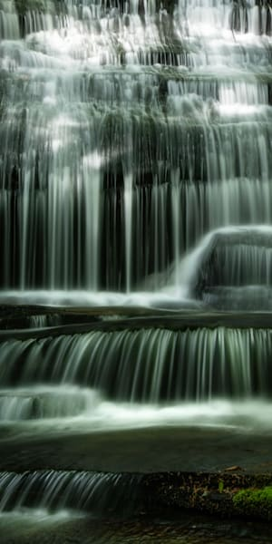 Glowing Sunbeams Dance In A Waterfall