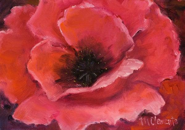Pink Poppy Art   Marsha Clements Art