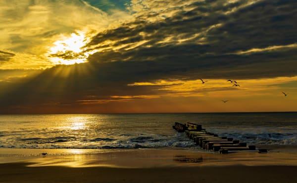 Sunrise and Sunrays over Rehoboth Beach
