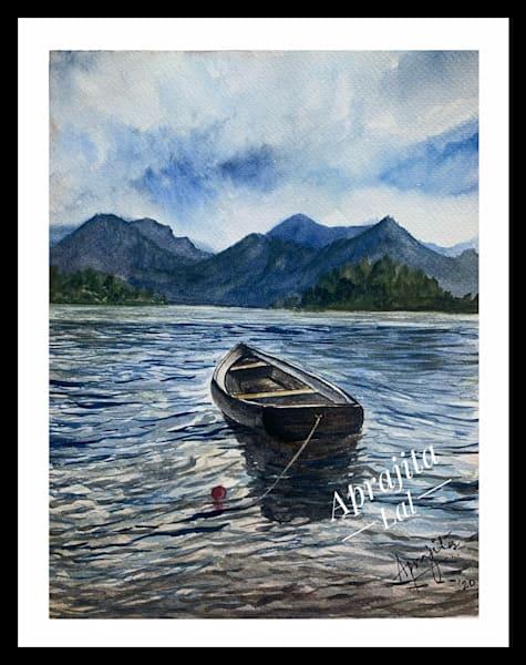 """""""Waiting 2"""" in Watercolors by Aprajita Lal (Original 10.5x8)"""